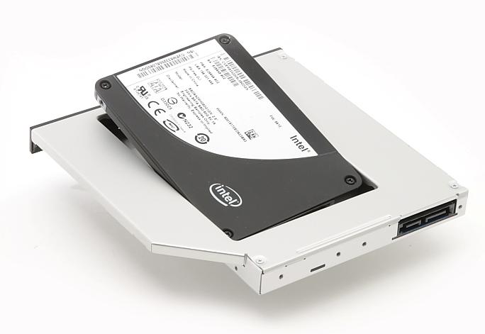 Адаптер для подключения жесткого диска на место DVD-привода в ноутбуке