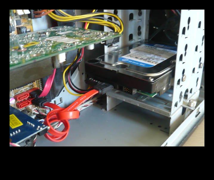 Подключение жесткого диска по SATA