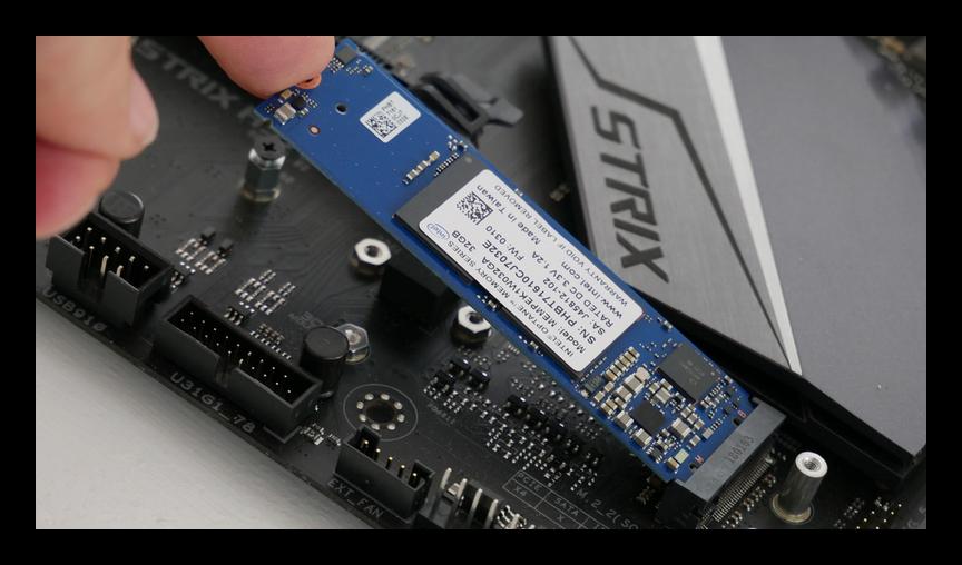 Подключение Intel Optane к материнской плате