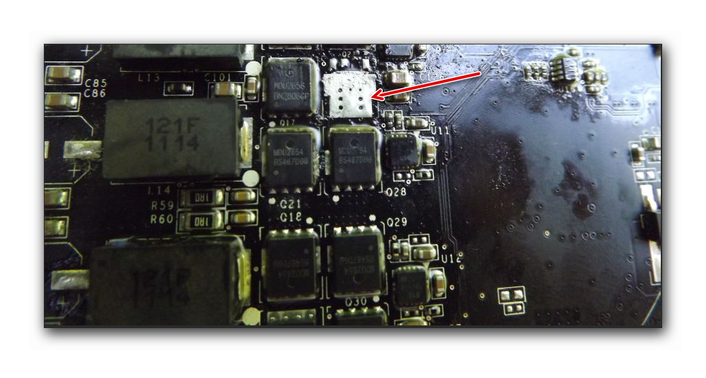 Сгорел транзистор на видеокарте