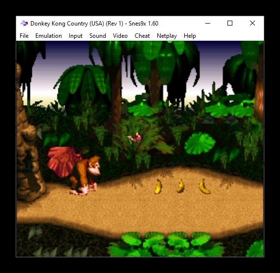 Образ игры в эмуляторе игровой приставки