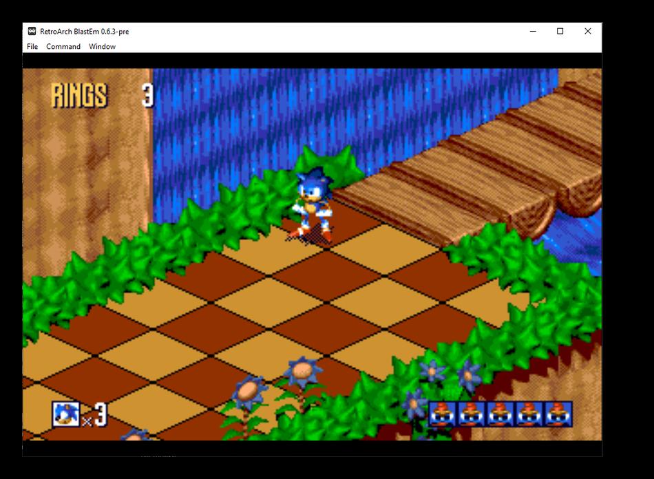 Образ игры формата BIN в универсальном эмуляторе игровых приставок RetroArch