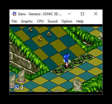 Образ BIN игры Sonic 3D Blast в эмуляторе Sega Genesis