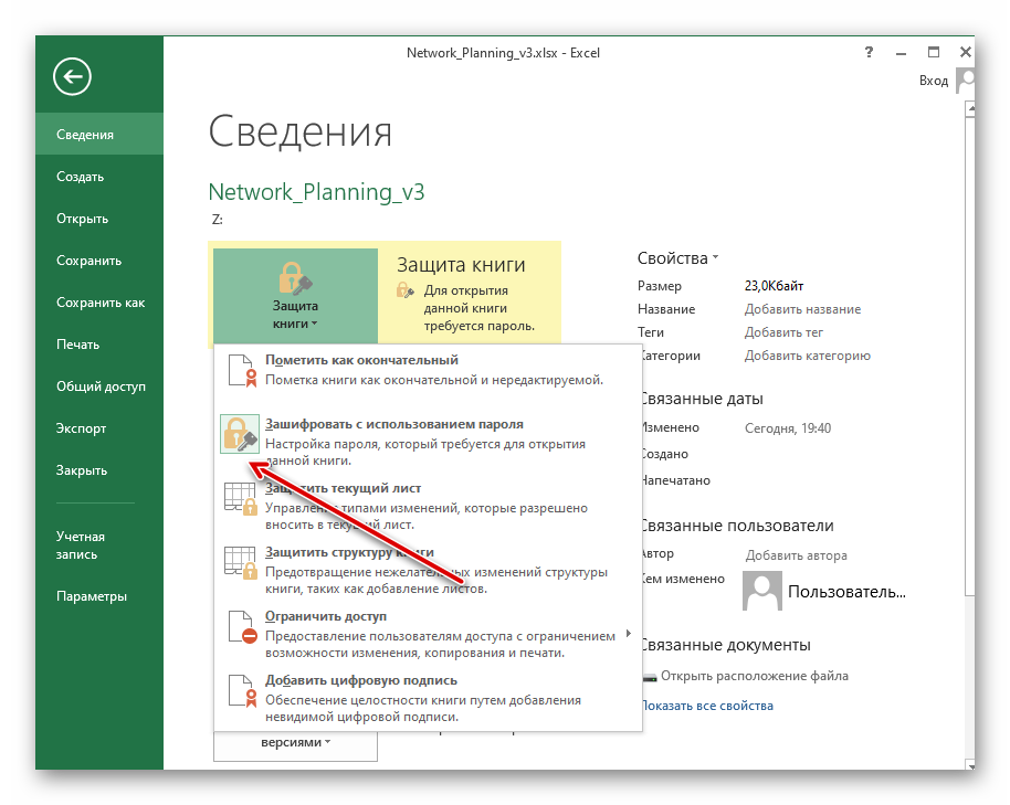 Просмотр типа защиты, поставленной на книгу или лист в Microsoft Excel