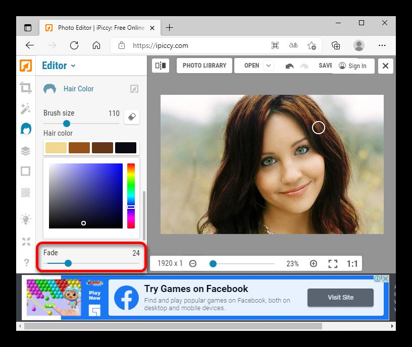как поменять цвет волос на фото онлайн_037