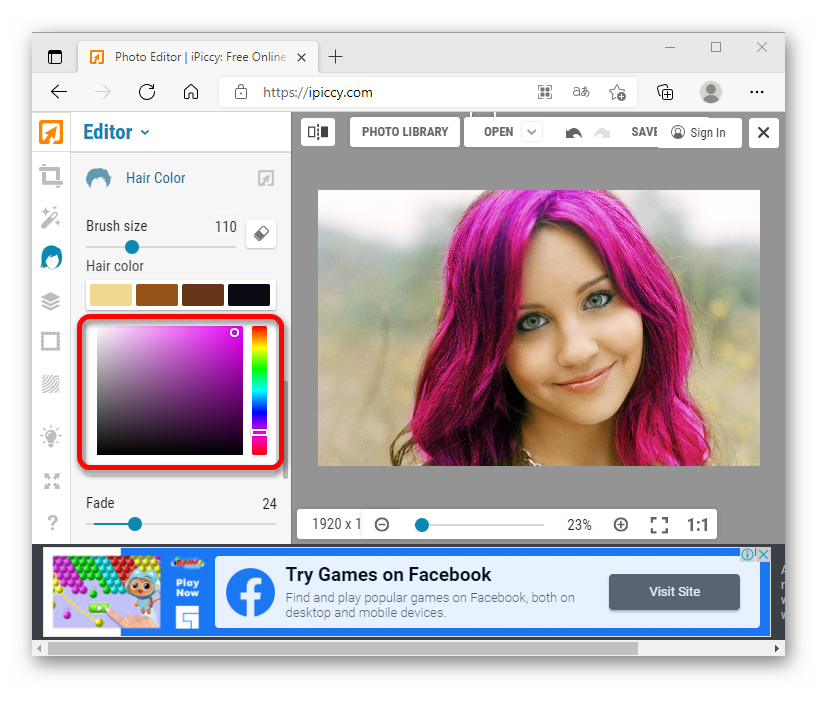 как поменять цвет волос на фото онлайн_038
