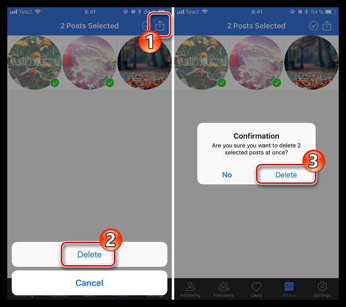 Как удалить сразу все фото в Инстаграм_5
